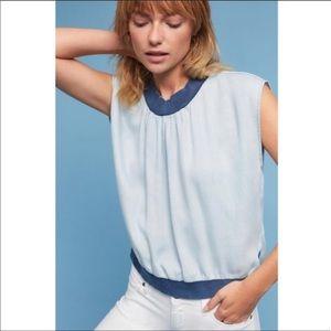 NWT Amadi chambray sleeveless top, size M